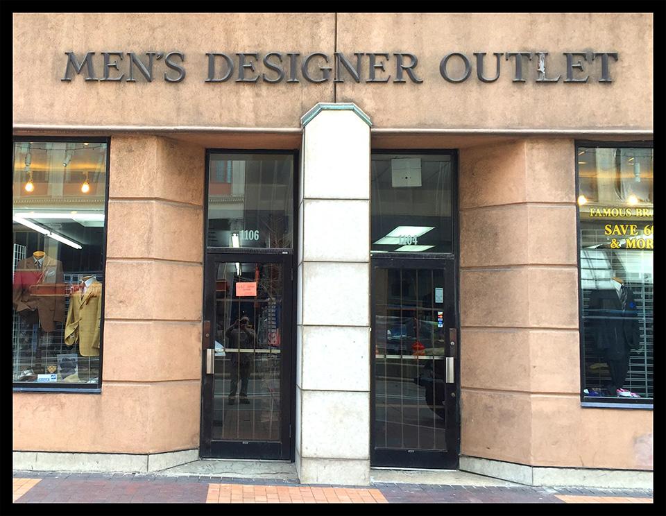 Fachadas de Lojas de Roupas Masculinas Men's Designer Outlet