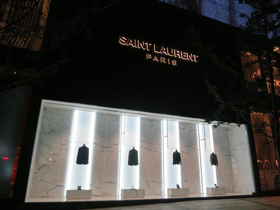 Fachadas de Lojas de Roupas Femininas Saint Laurent Paris