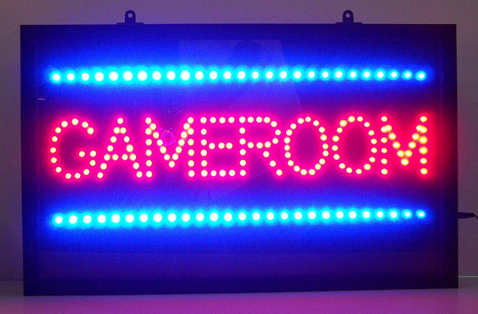 Letreiro de Led Game Room
