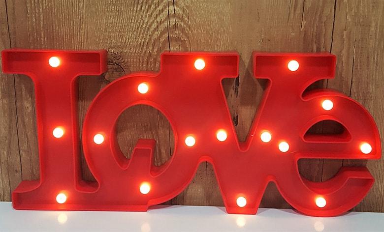 letreiro luminoso love letra iluminada amor