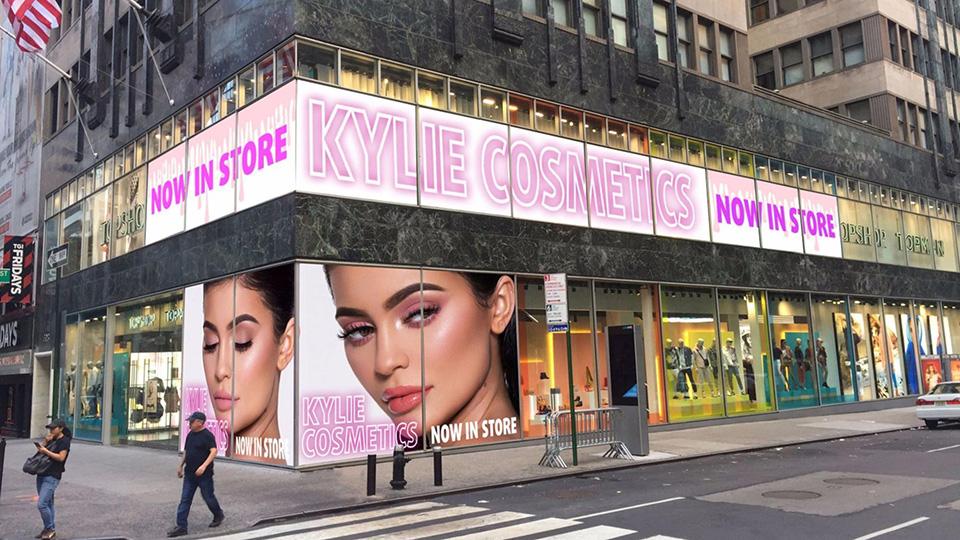 Fachada de Loja Feminina Kylie Cosmetics