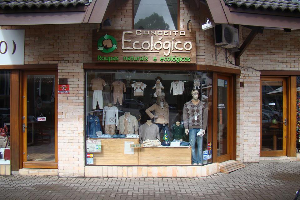 Fachadas de Lojas de Roupas Conceito Ecologico