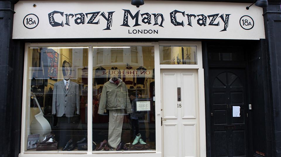 Fachadas de Lojas de Roupas Masculinas Crazy Man Crazy