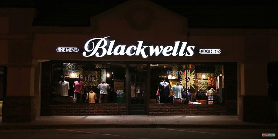 Fachadas de Lojas de Roupas Masculinas Blackwells