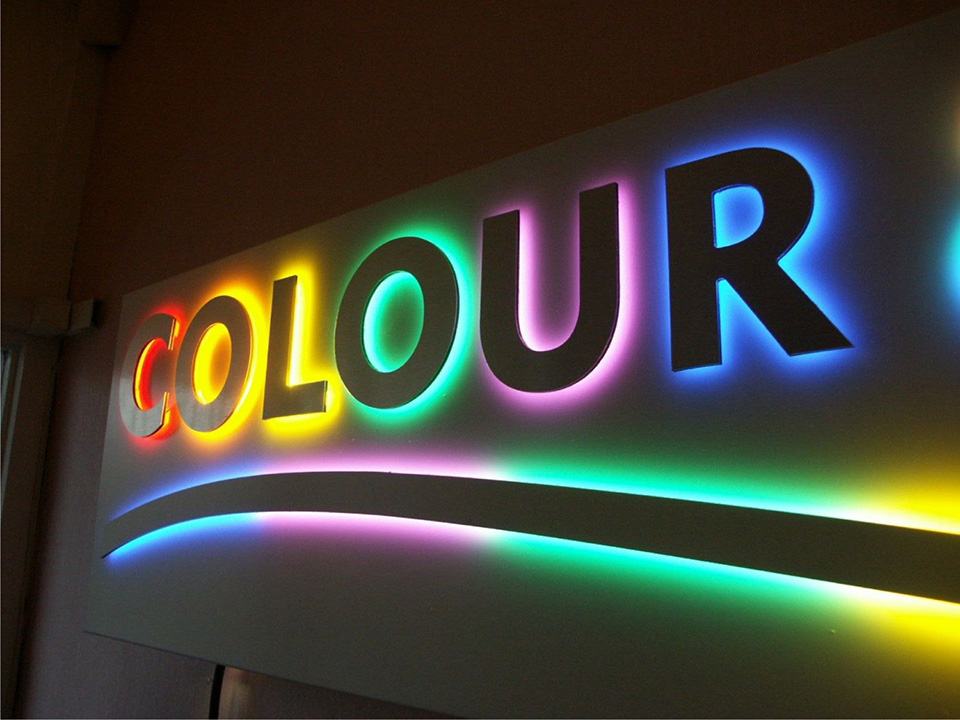 Letreiro de Led Colour
