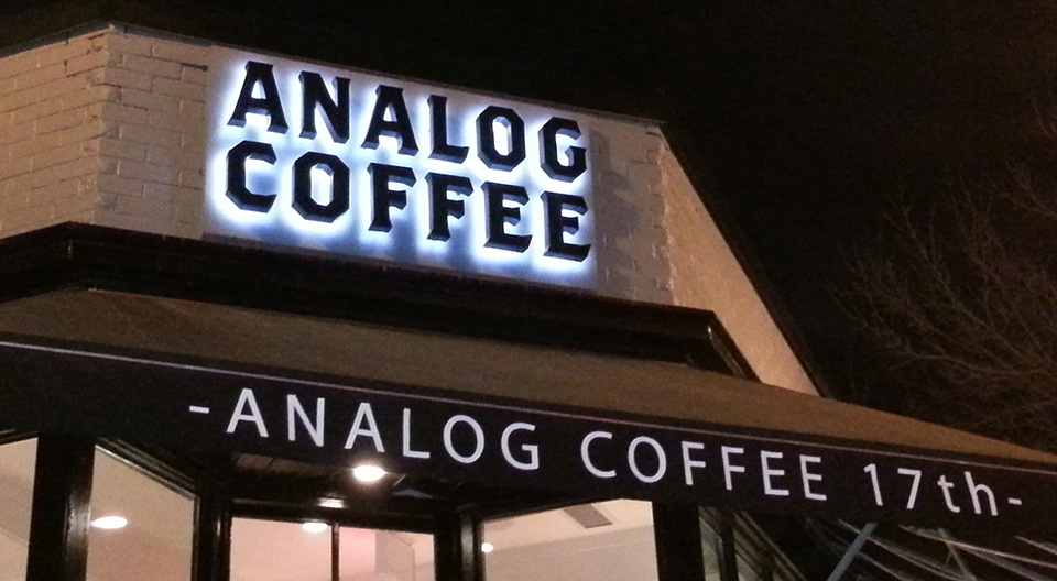 Letreiro de Led Analog Coffee