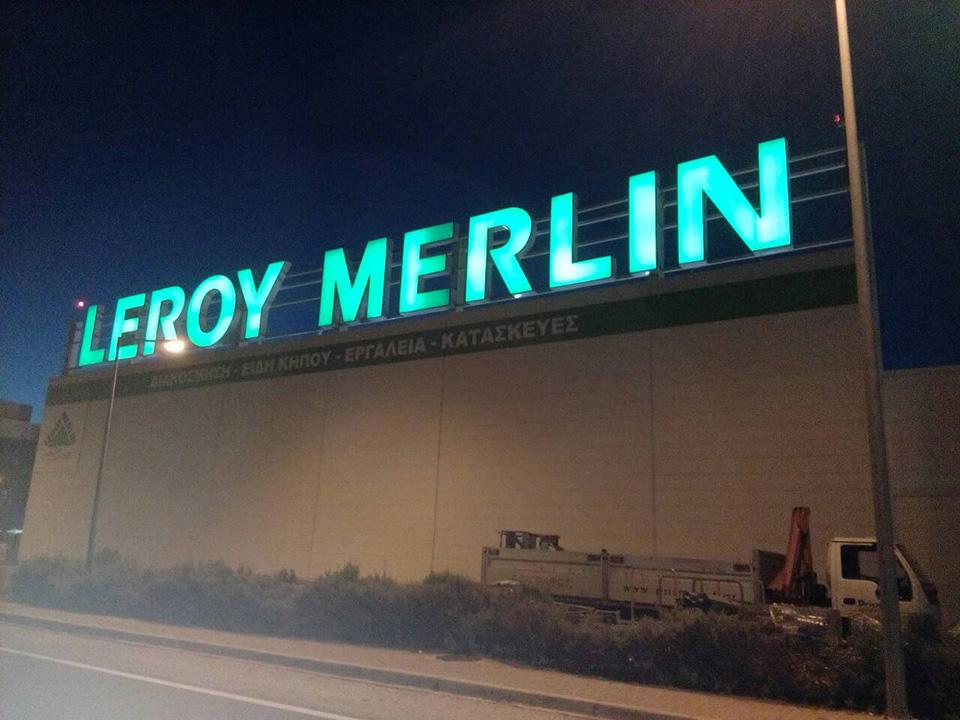 Letreiro de Led Leroy Merlin
