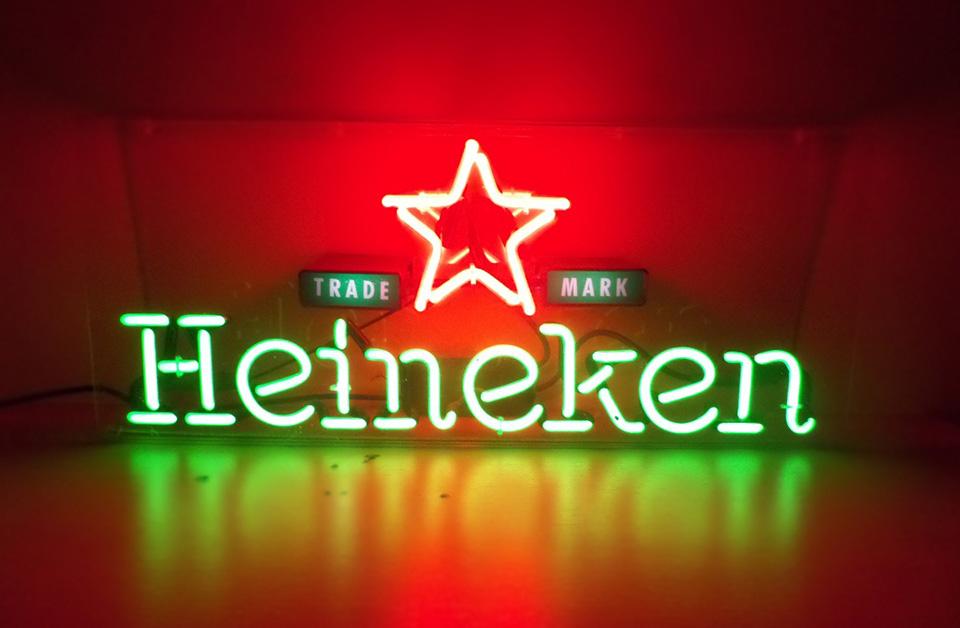 Letreiro Luminoso Neon Heineken